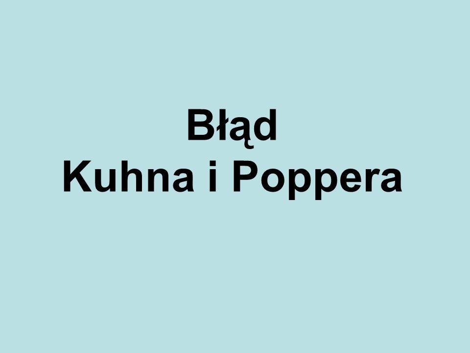 Błąd Kuhna i Poppera