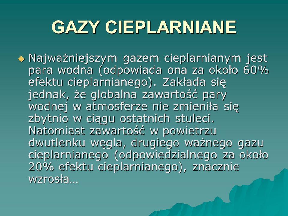 GAZY CIEPLARNIANE