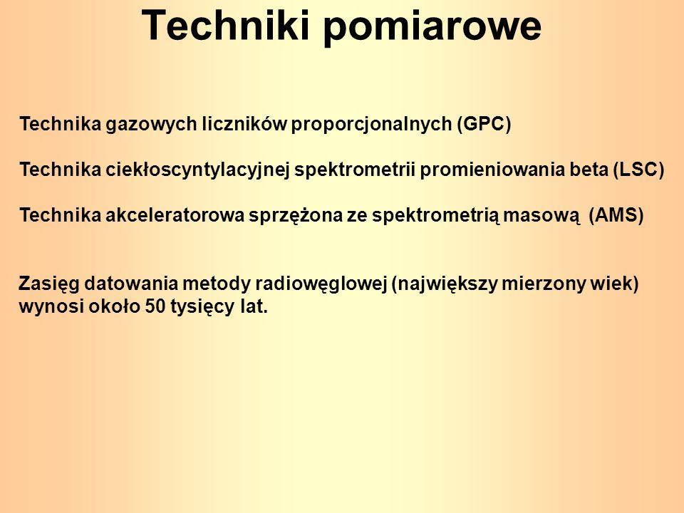 Techniki pomiarowe Technika gazowych liczników proporcjonalnych (GPC)