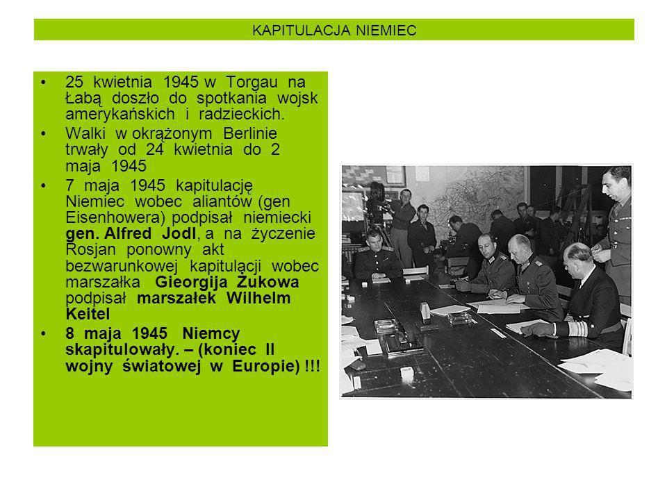 Walki w okrążonym Berlinie trwały od 24 kwietnia do 2 maja 1945