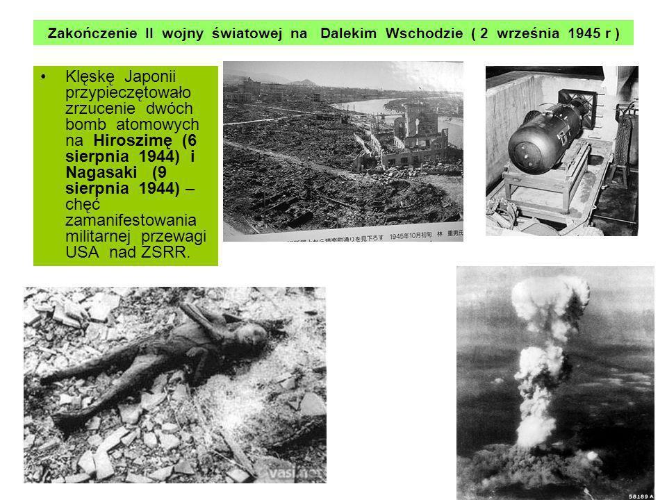 Zakończenie II wojny światowej na Dalekim Wschodzie ( 2 września 1945 r )