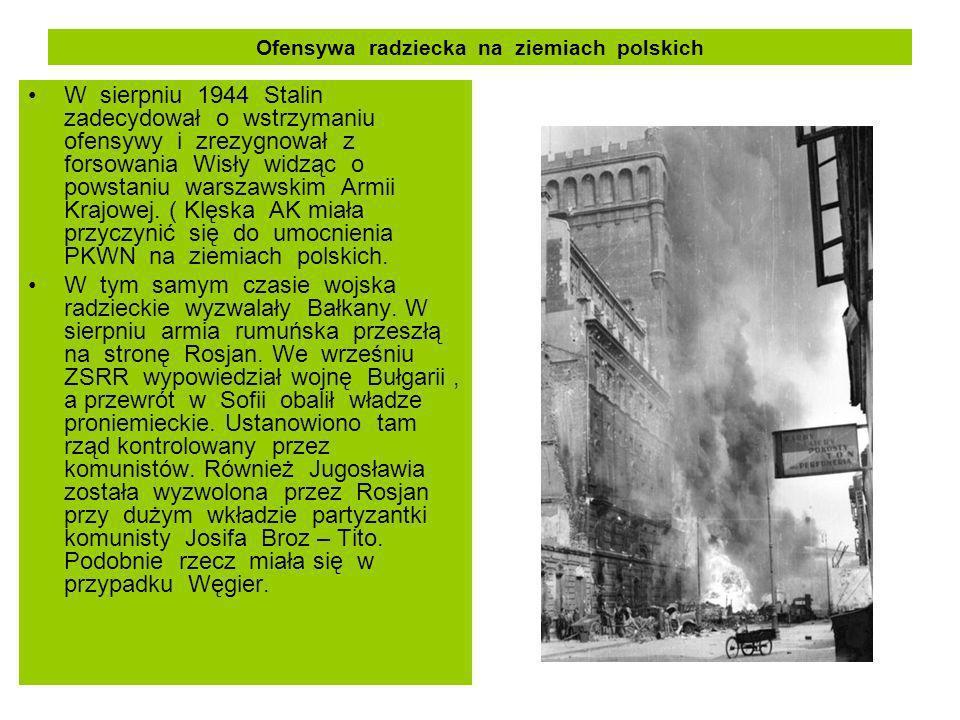 Ofensywa radziecka na ziemiach polskich