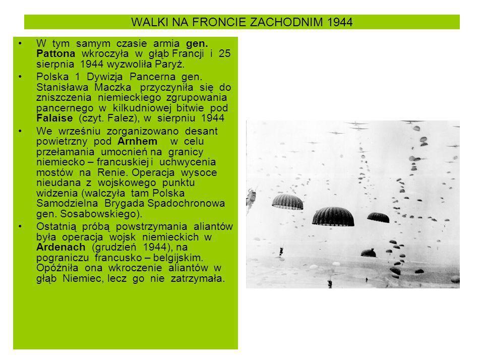 WALKI NA FRONCIE ZACHODNIM 1944