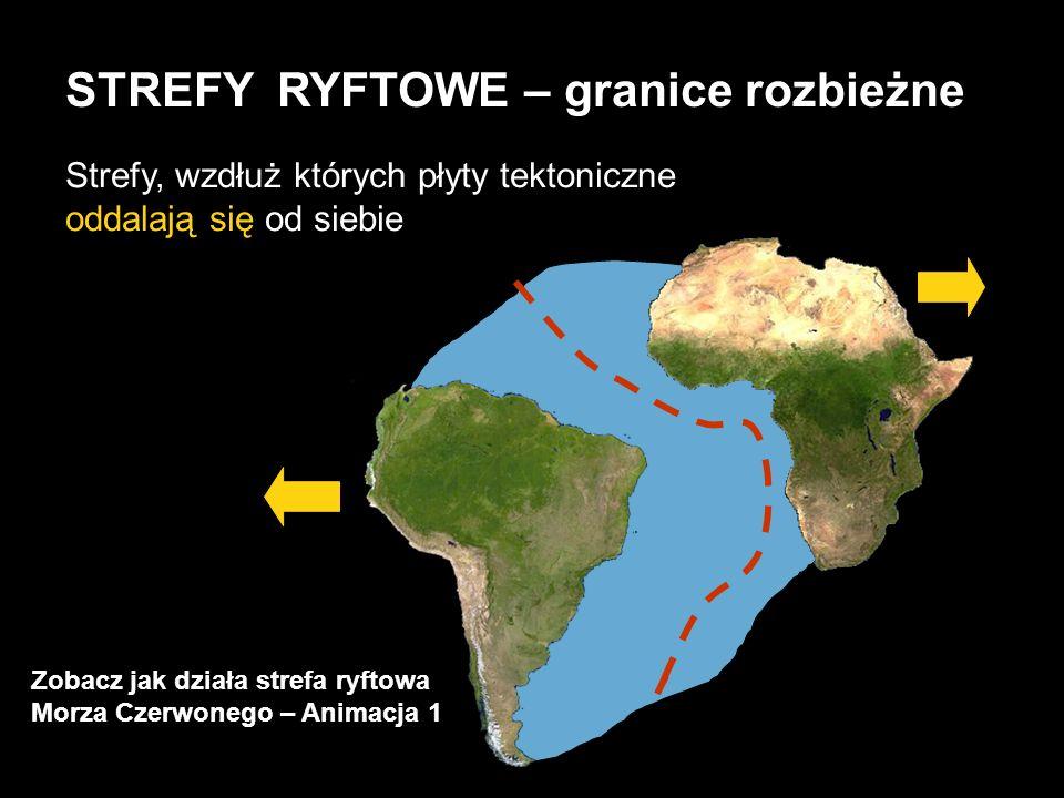 STREFY RYFTOWE – granice rozbieżne