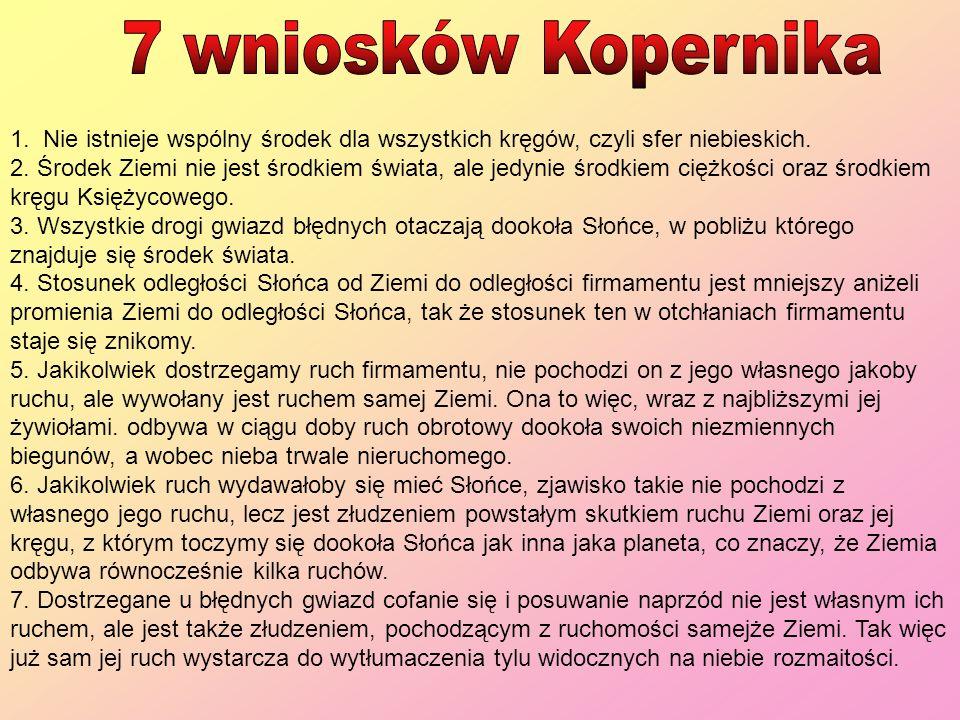 7 wniosków Kopernika