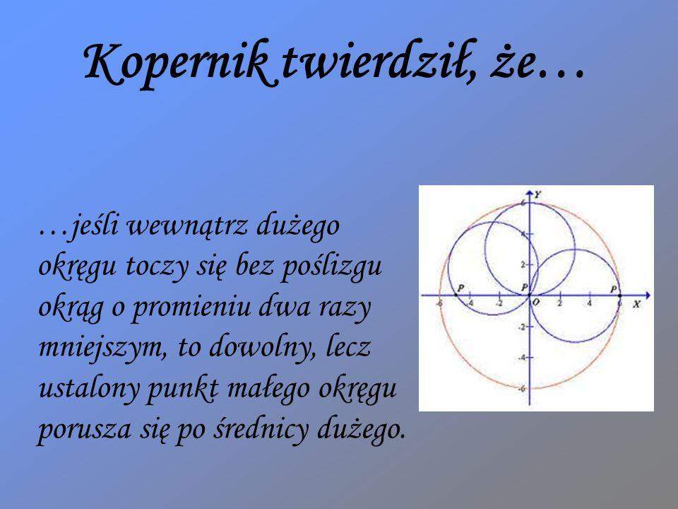 Kopernik twierdził, że…