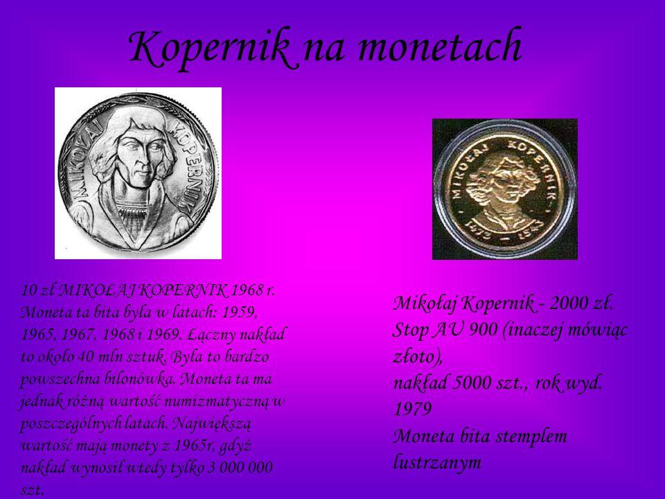 Kopernik na monetach 10 zł MIKOŁAJ KOPERNIK 1968 r.