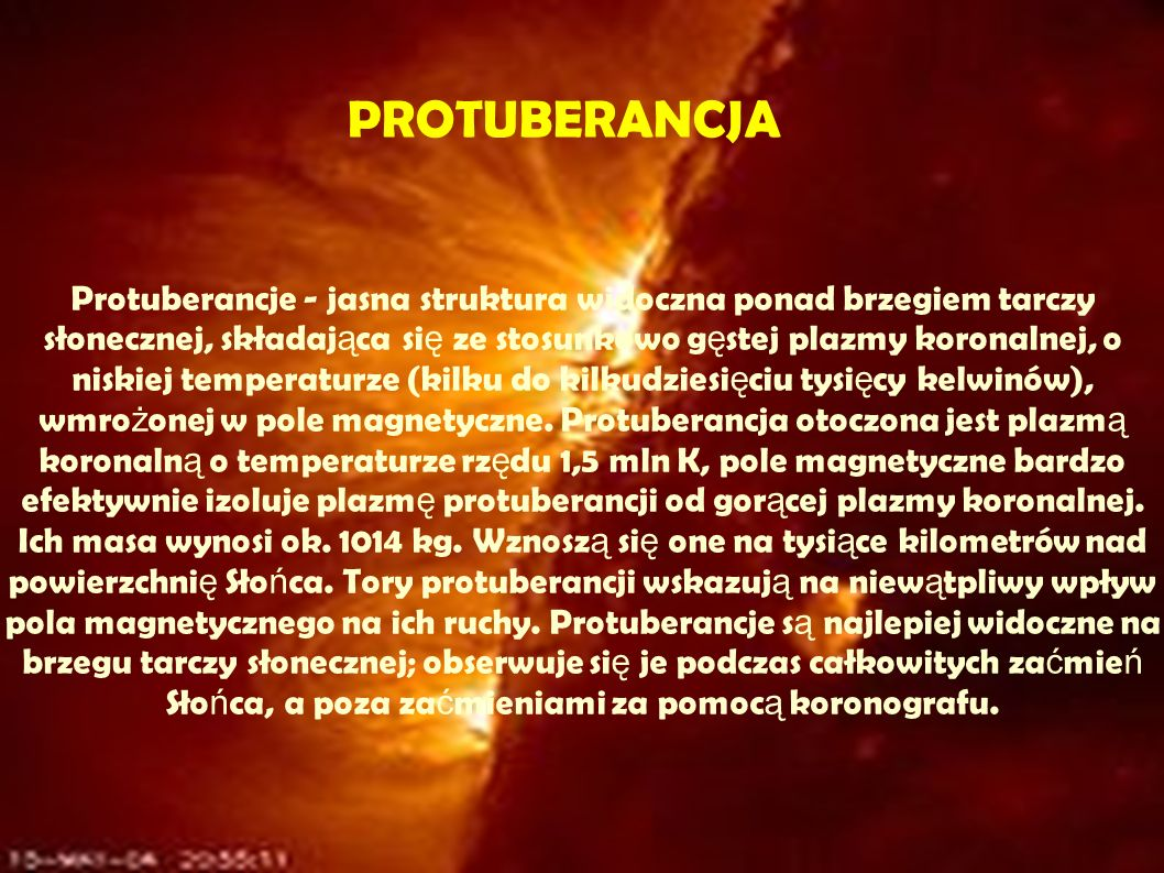 PROTUBERANCJA