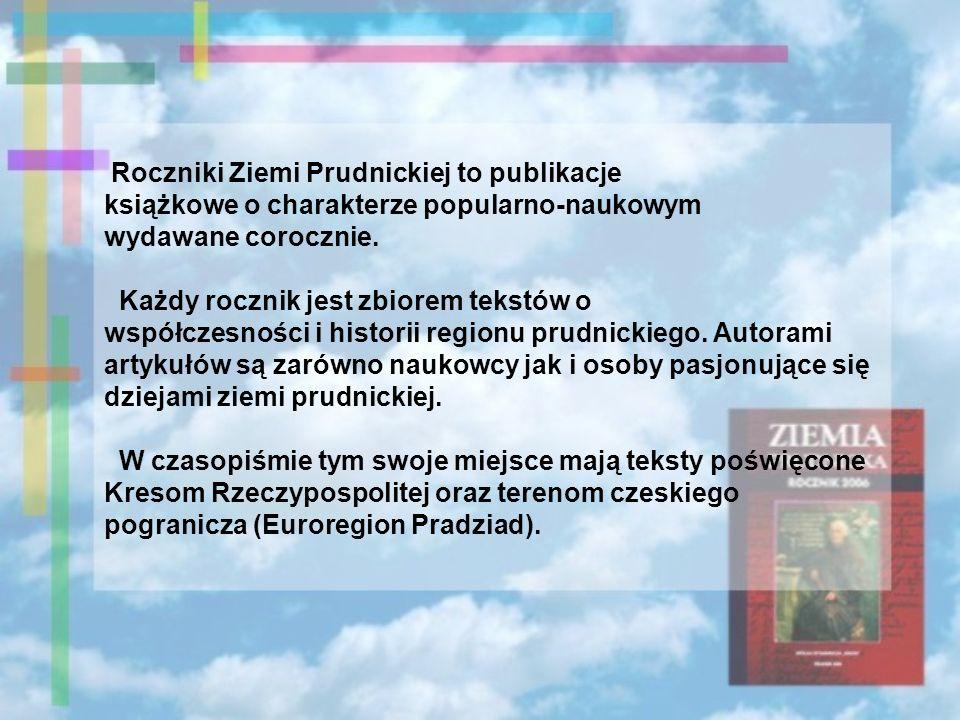 Roczniki Ziemi Prudnickiej to publikacje