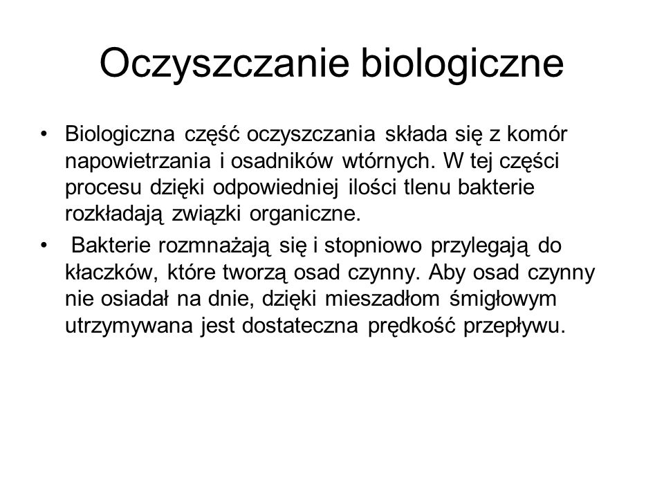 Oczyszczanie biologiczne