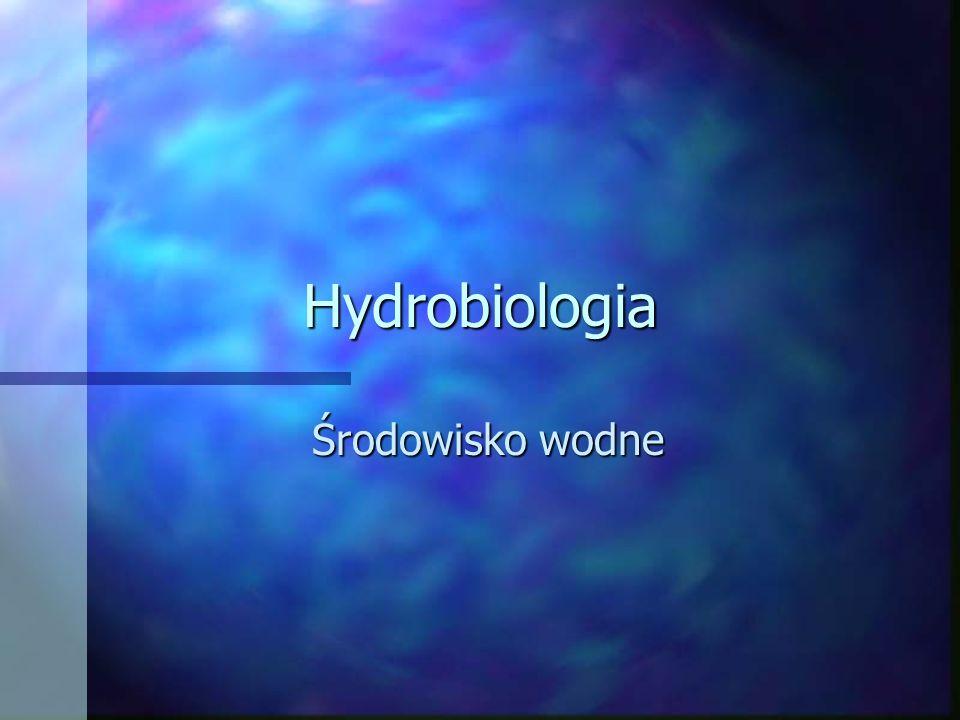 Hydrobiologia Środowisko wodne