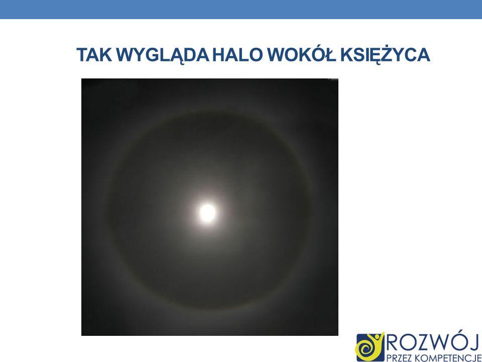 tak wygląda Halo wokół Księżyca