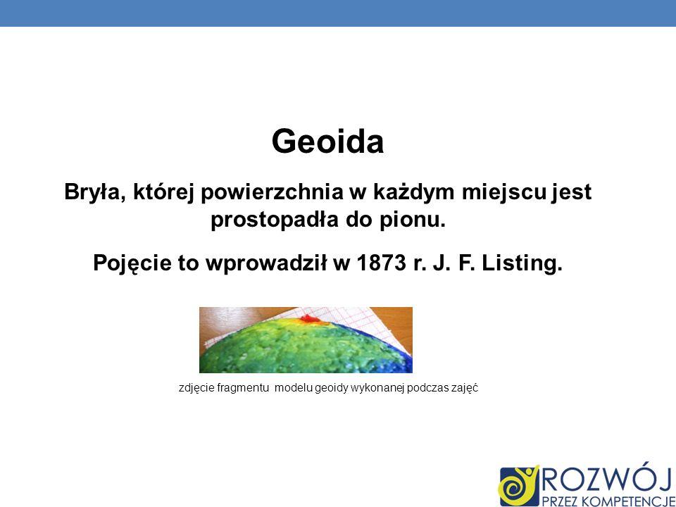 Geoida Bryła, której powierzchnia w każdym miejscu jest prostopadła do pionu. Pojęcie to wprowadził w 1873 r. J. F. Listing.