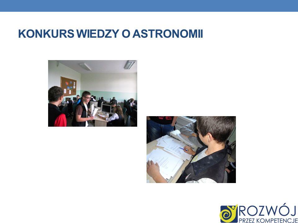 Konkurs wiedzy o Astronomii