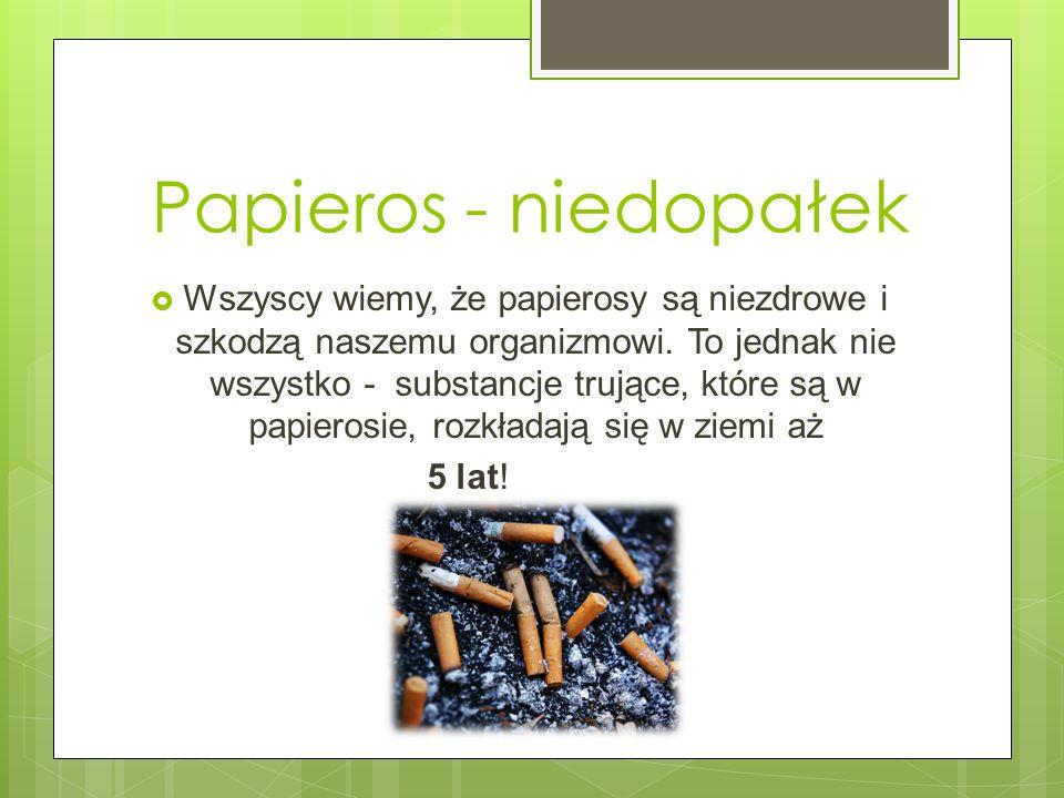 Papieros - niedopałek