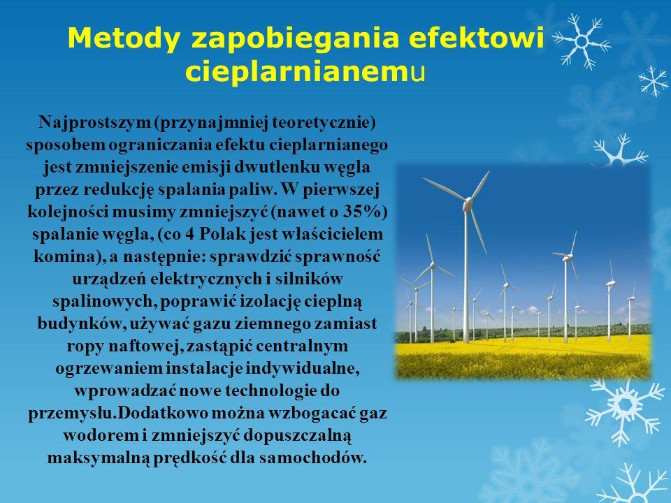 Metody zapobiegania efektowi cieplarnianemu