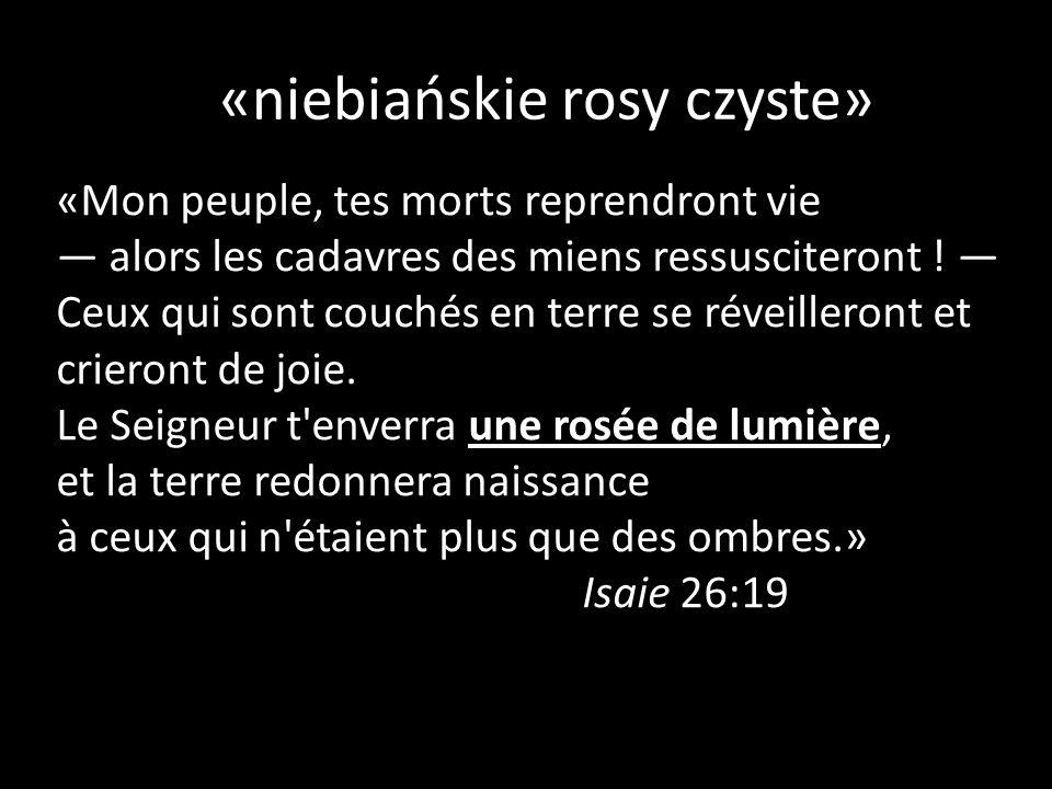«niebiańskie rosy czyste»