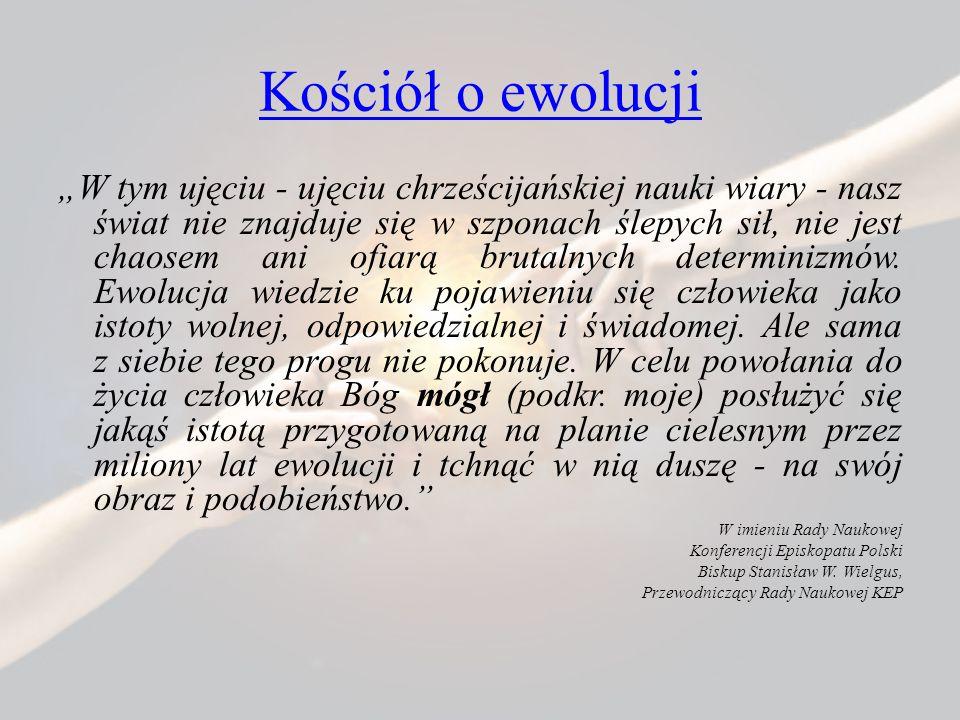 Kościół o ewolucji