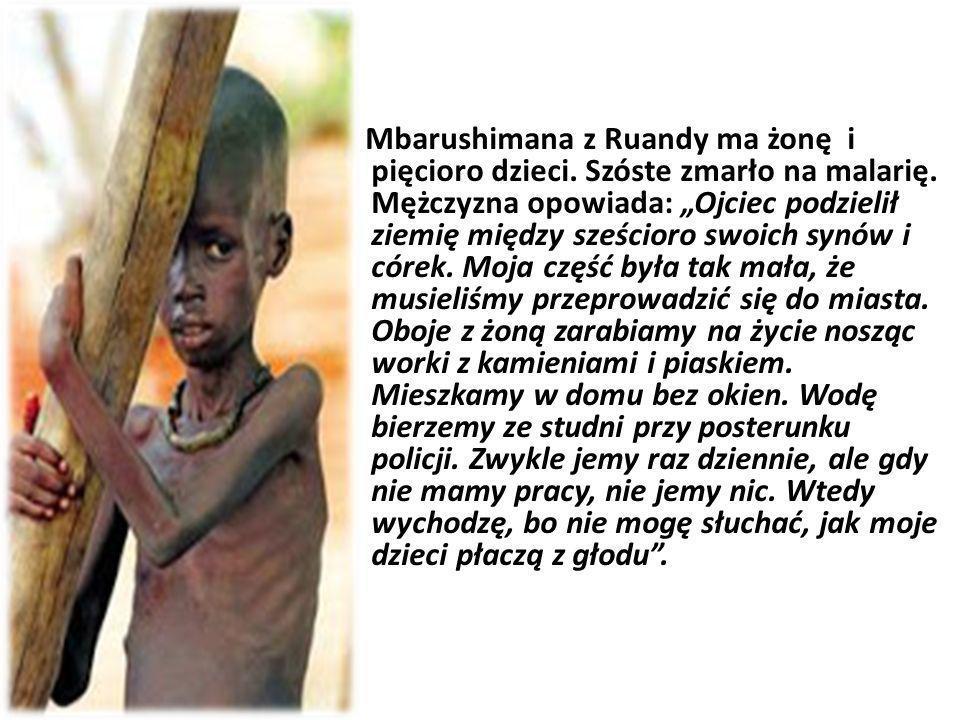 Mbarushimana z Ruandy ma żonę i pięcioro dzieci