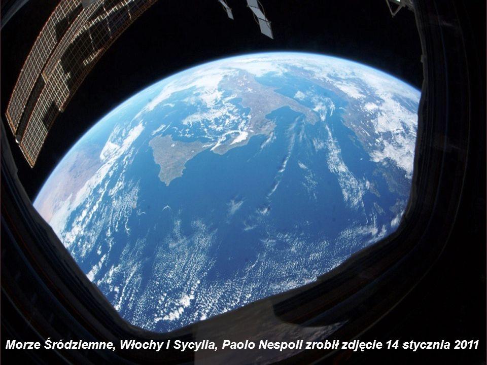 Morze Śródziemne, Włochy i Sycylia, Paolo Nespoli zrobił zdjęcie 14 stycznia 2011