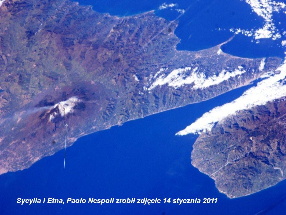Sycylia i Etna, Paolo Nespoli zrobił zdjęcie 14 stycznia 2011