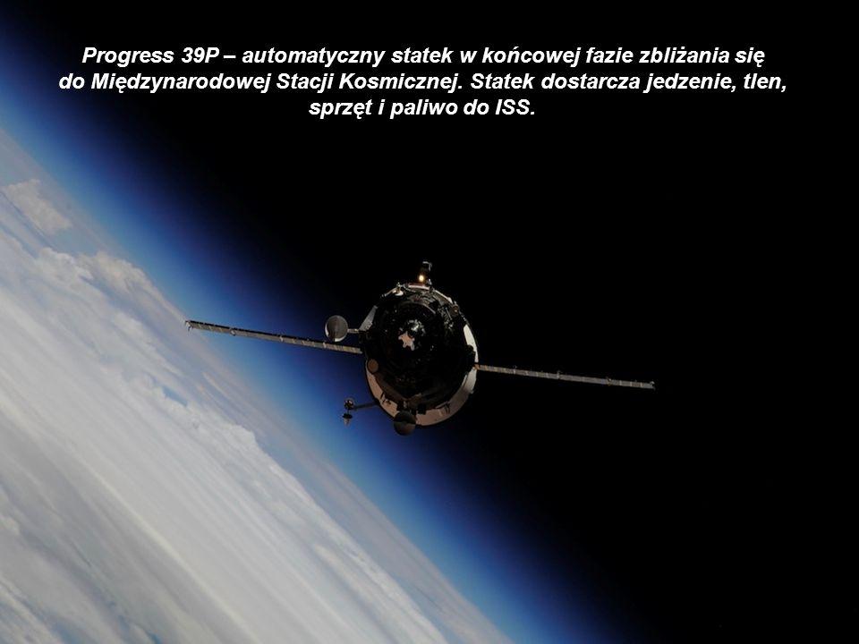 Progress 39P – automatyczny statek w końcowej fazie zbliżania się