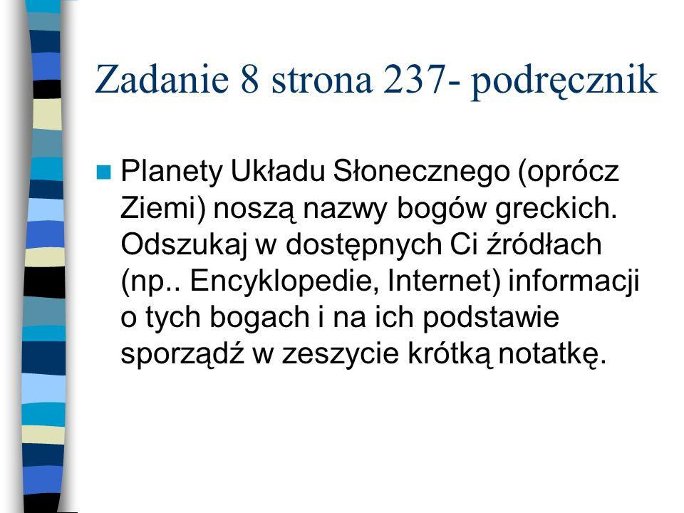 Zadanie 8 strona 237- podręcznik