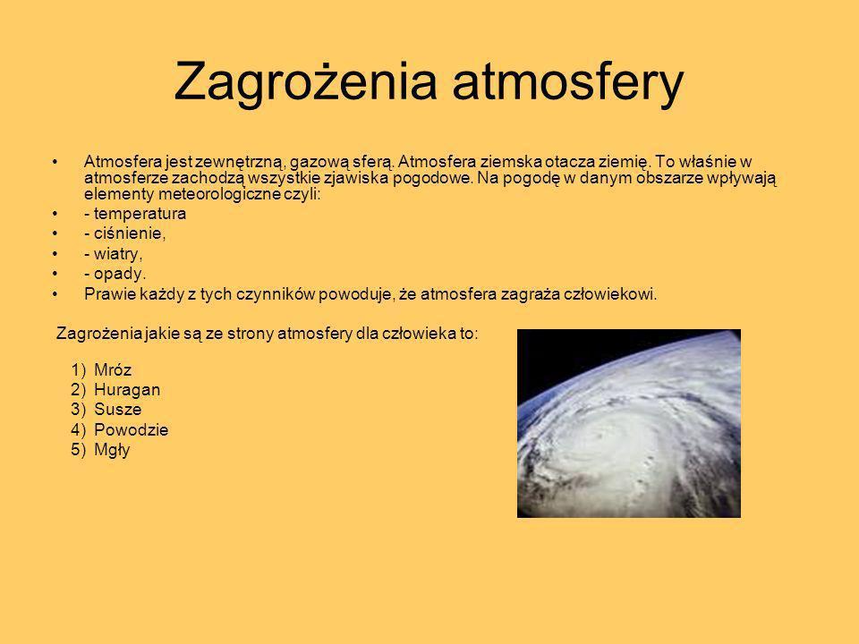 Zagrożenia atmosfery