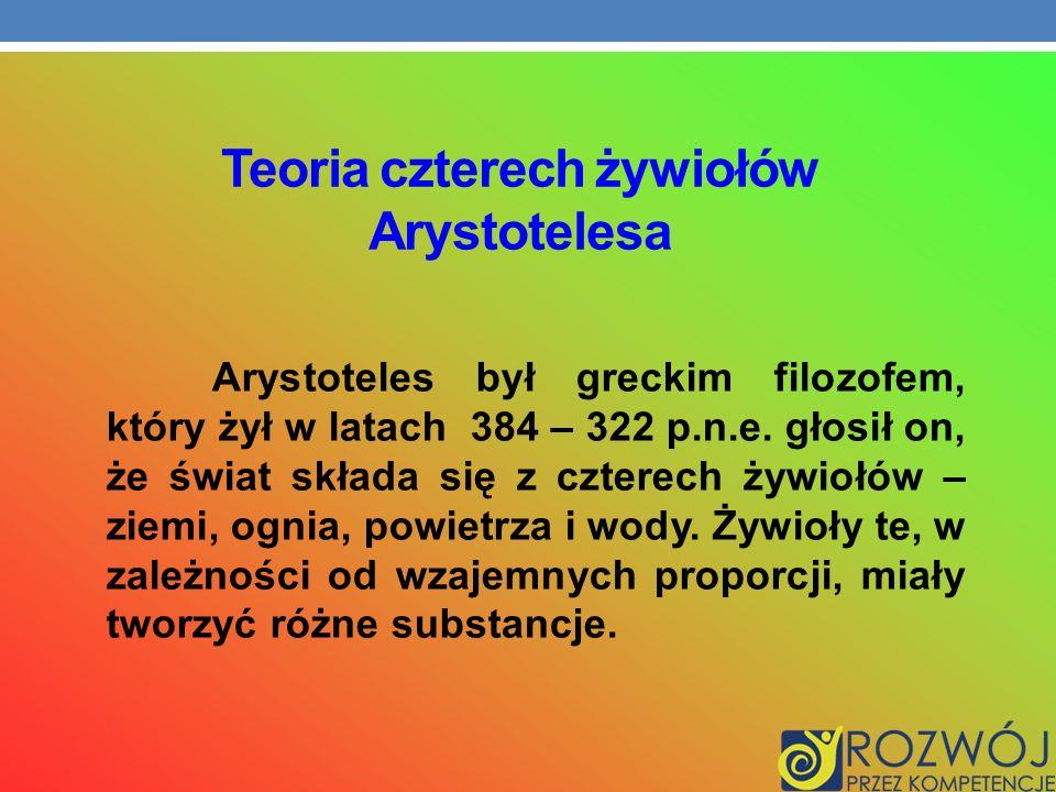 Teoria czterech żywiołów Arystotelesa