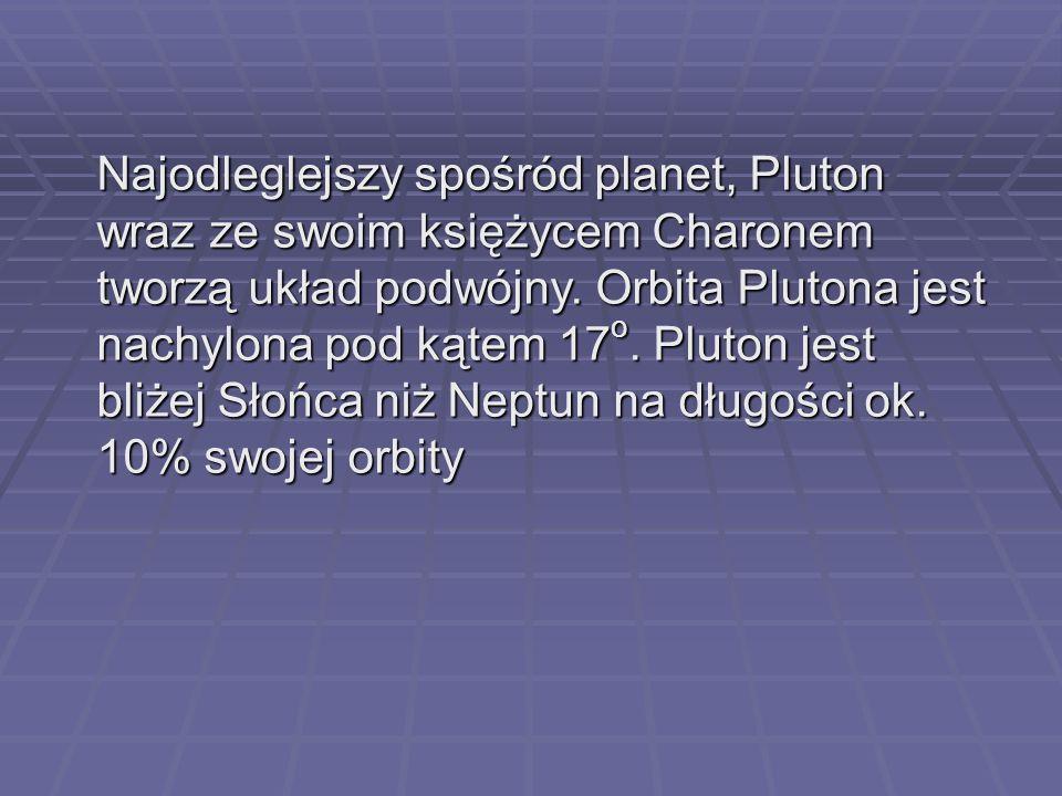 Najodleglejszy spośród planet, Pluton wraz ze swoim księżycem Charonem tworzą układ podwójny.