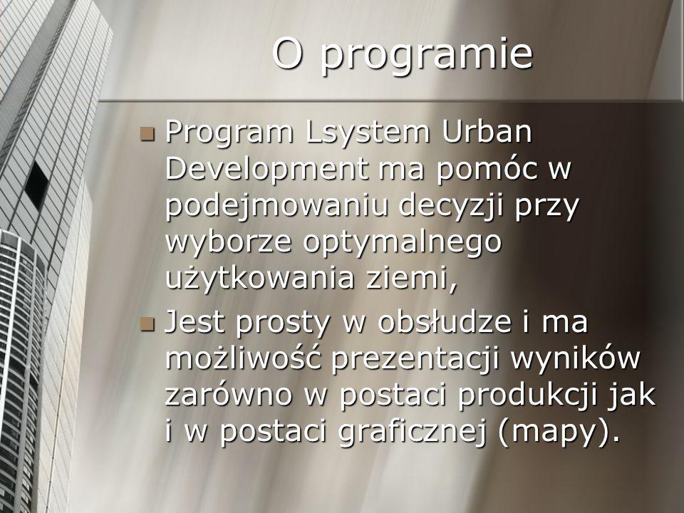 O programie Program Lsystem Urban Development ma pomóc w podejmowaniu decyzji przy wyborze optymalnego użytkowania ziemi,