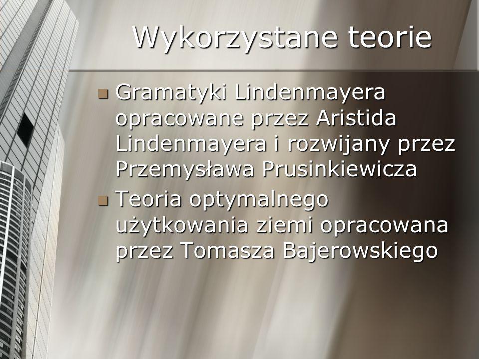 Wykorzystane teorie Gramatyki Lindenmayera opracowane przez Aristida Lindenmayera i rozwijany przez Przemysława Prusinkiewicza.