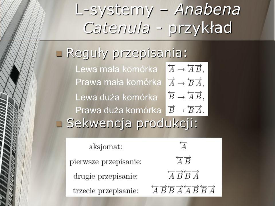 L-systemy – Anabena Catenula - przykład