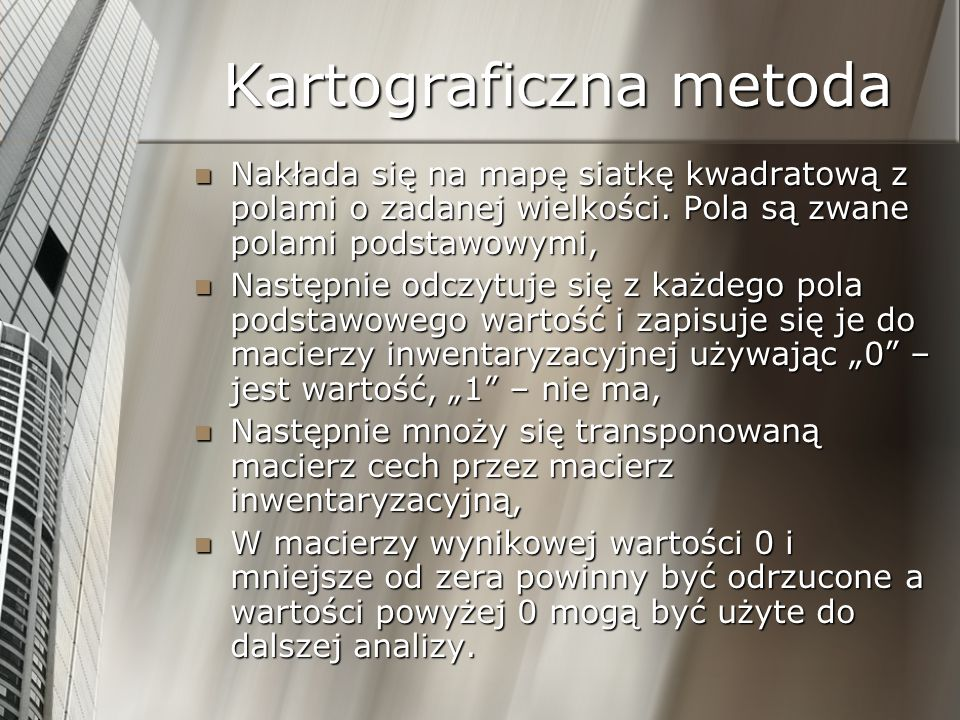 Kartograficzna metoda