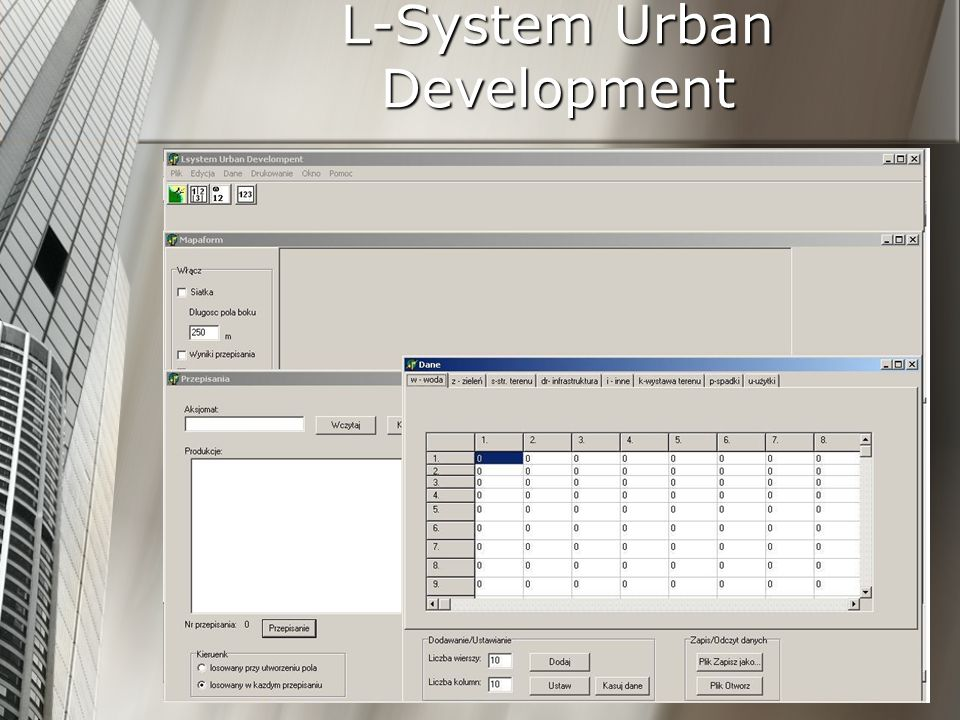 L-System Urban Development