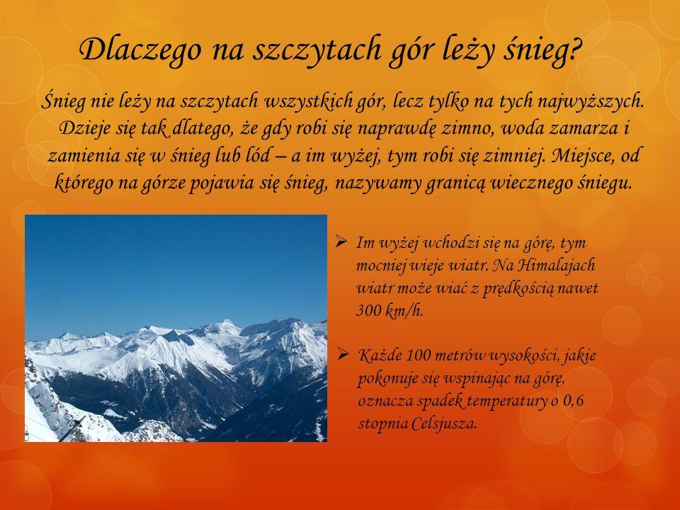 Dlaczego na szczytach gór leży śnieg