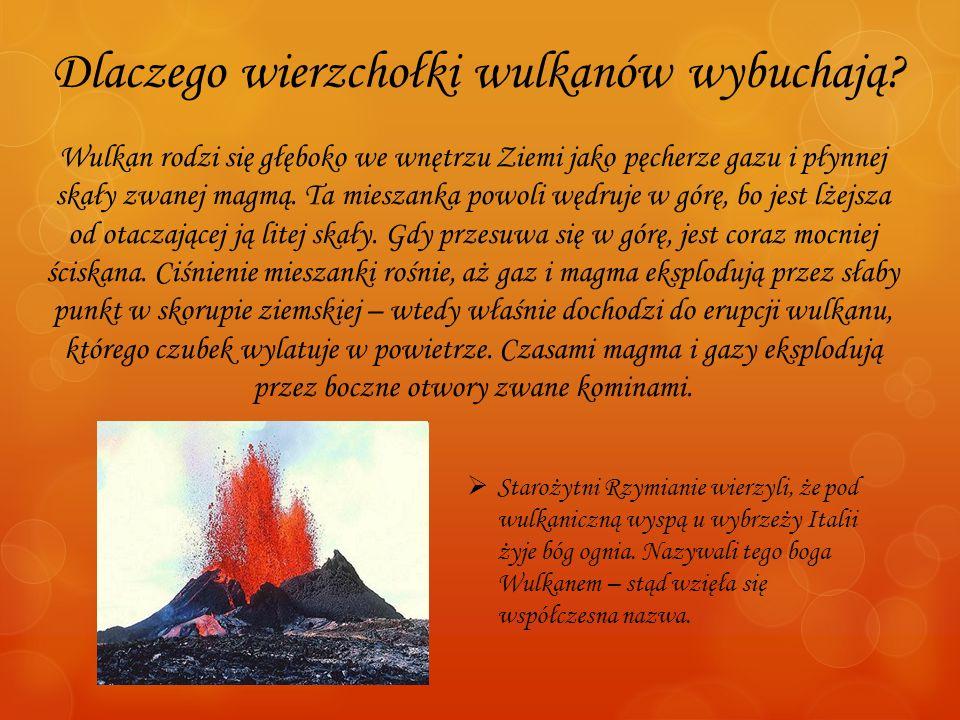 Dlaczego wierzchołki wulkanów wybuchają