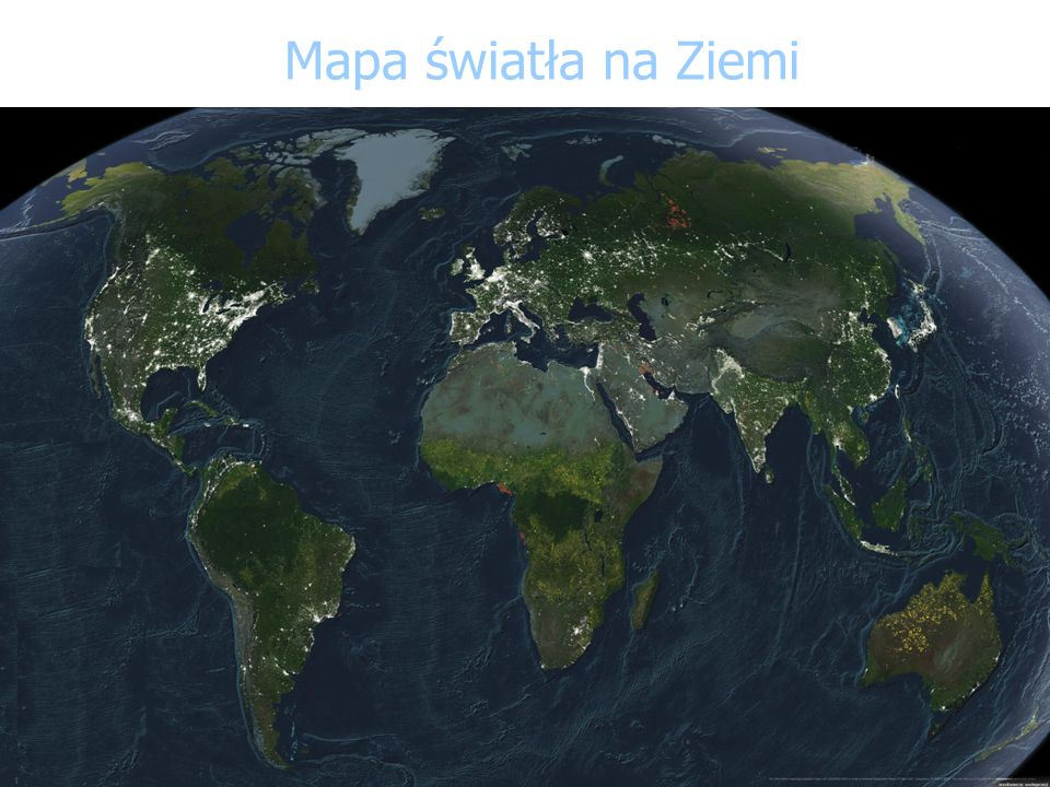 Mapa światła na Ziemi