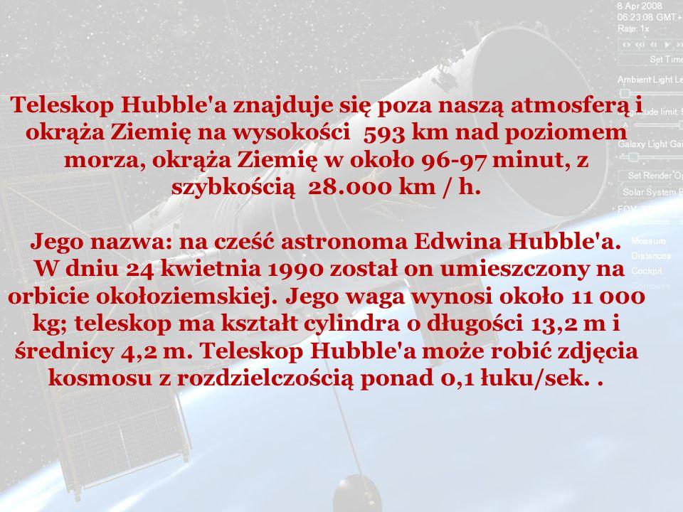 Jego nazwa: na cześć astronoma Edwina Hubble a.