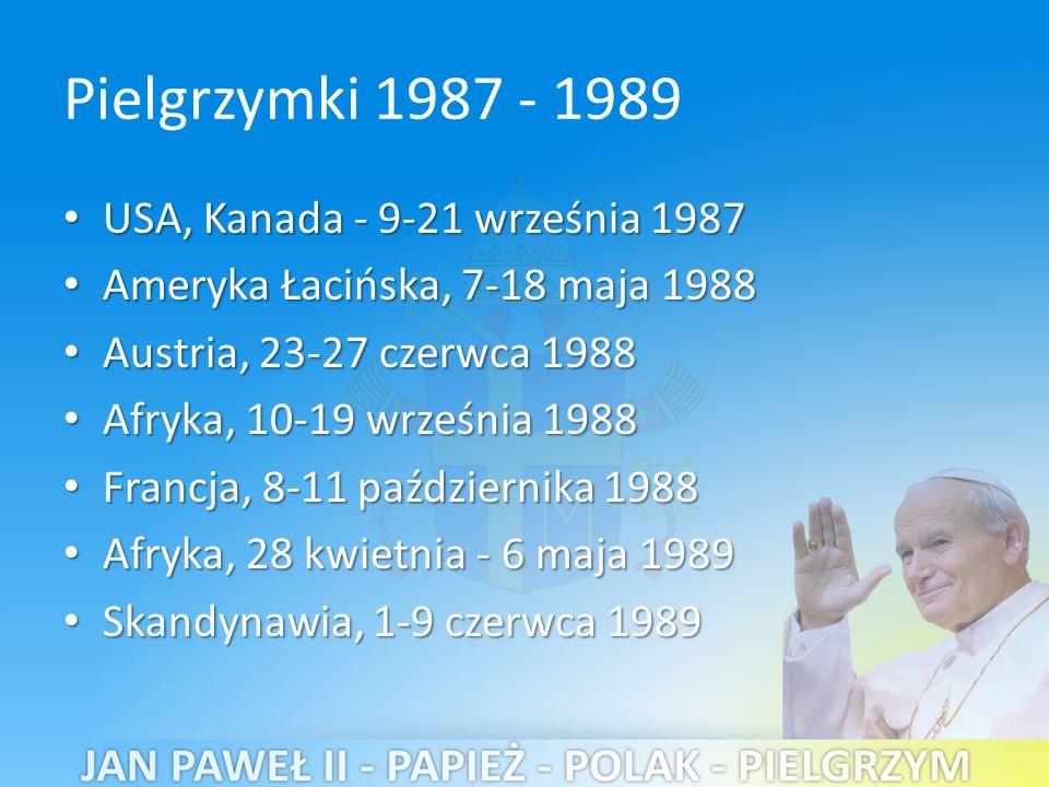 Pielgrzymki 1987 - 1989 USA, Kanada - 9-21 września 1987