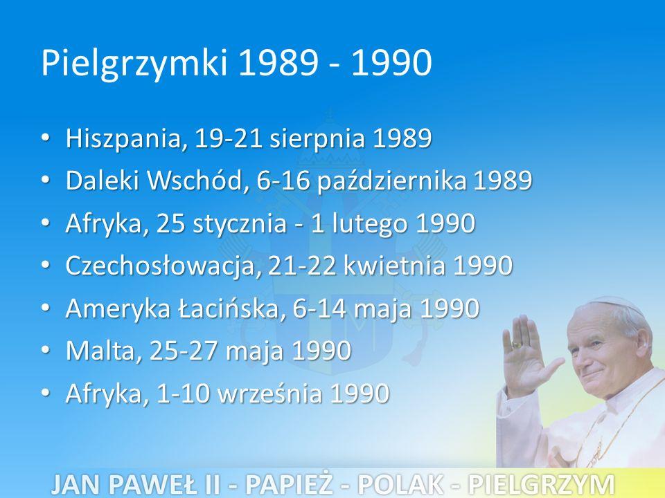 Pielgrzymki 1989 - 1990 Hiszpania, 19-21 sierpnia 1989