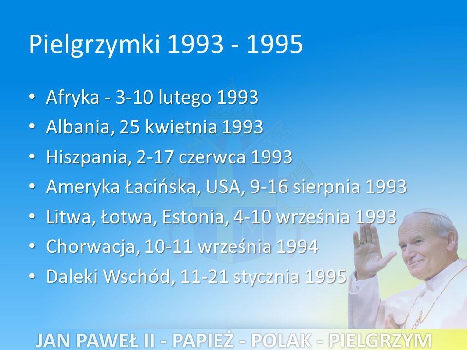 Pielgrzymki 1993 - 1995 Afryka - 3-10 lutego 1993