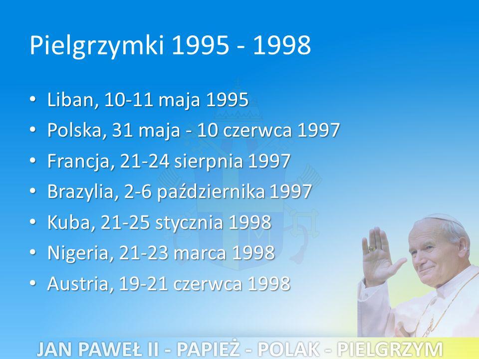 Pielgrzymki 1995 - 1998 Liban, 10-11 maja 1995