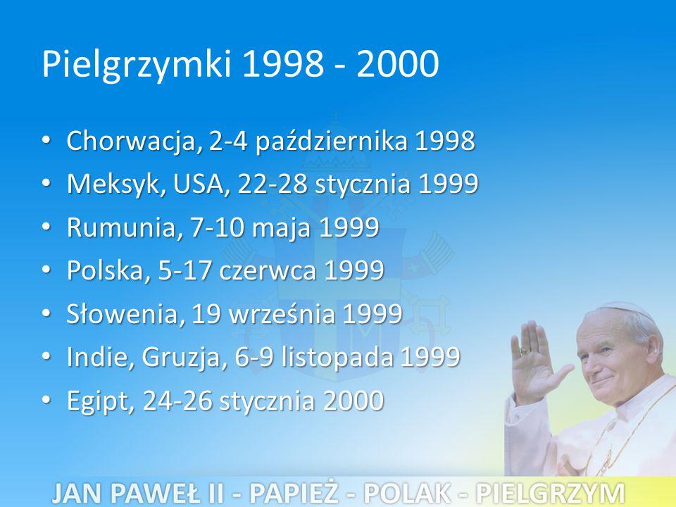 Pielgrzymki 1998 - 2000 Chorwacja, 2-4 października 1998