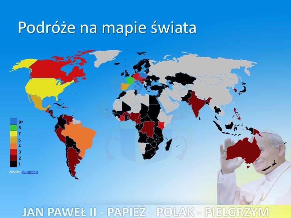 Podróże na mapie świata