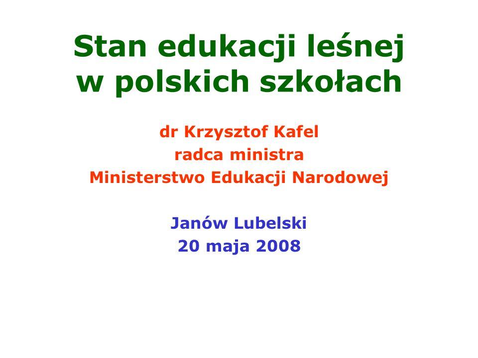 Stan edukacji leśnej w polskich szkołach