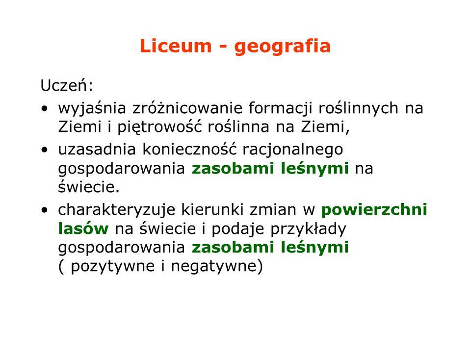 Liceum - geografia Uczeń: