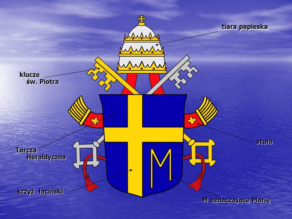 tiara papieska klucze św. Piotra stuła Tarcza Heraldyczna