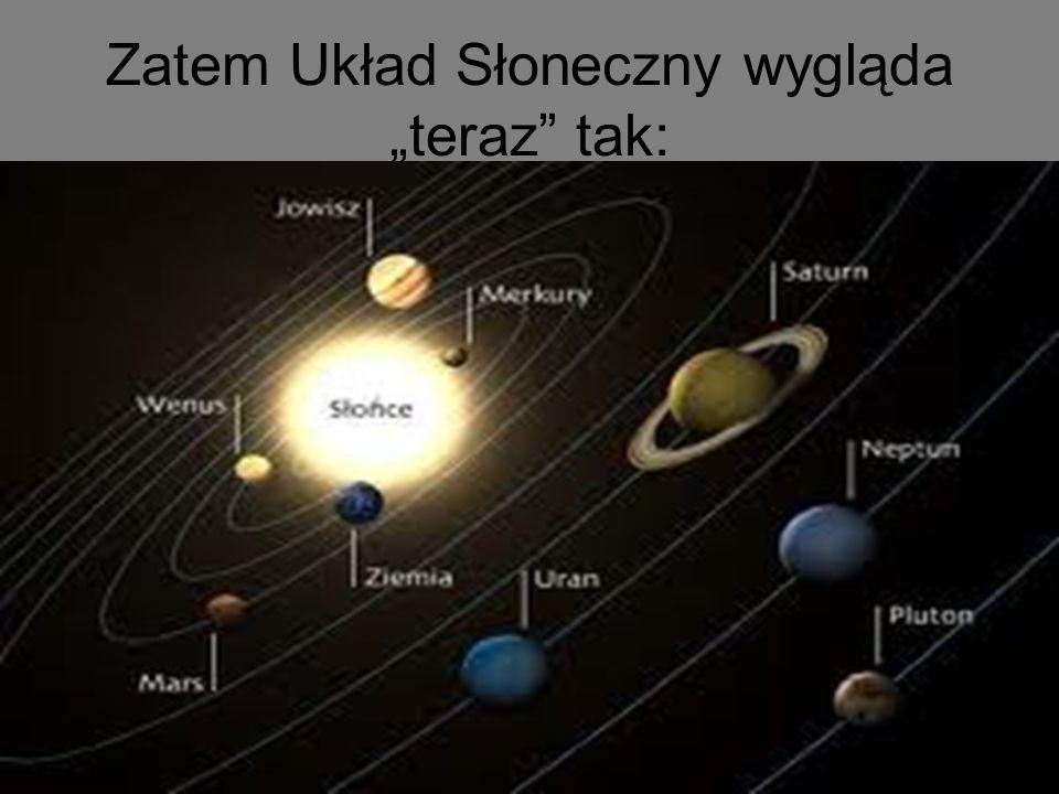 """Zatem Układ Słoneczny wygląda """"teraz tak:"""