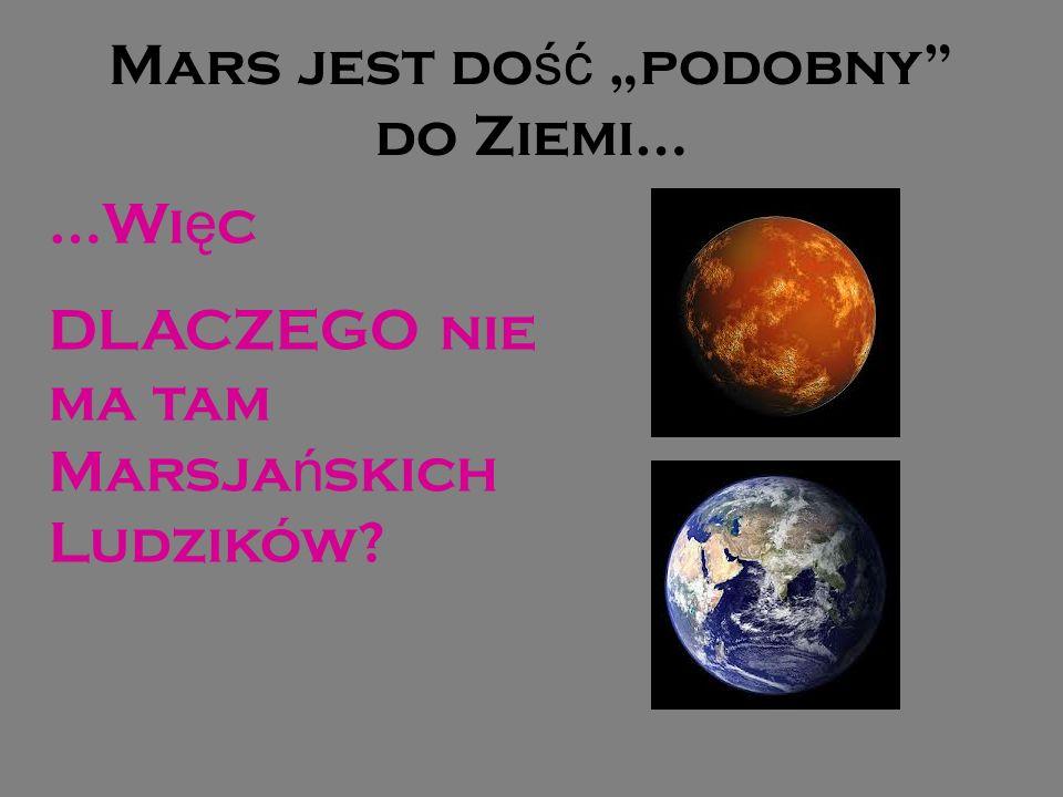 """Mars jest dość """"podobny do Ziemi…"""